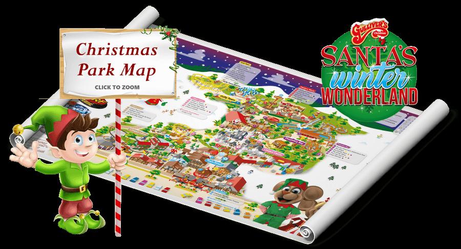 Milton Keynes Christmas Park Map